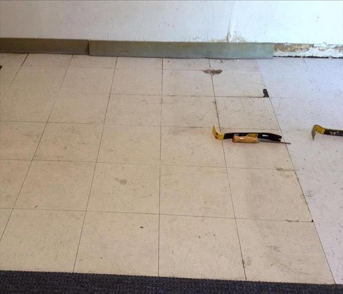 Water Damage at Commercial Location Before