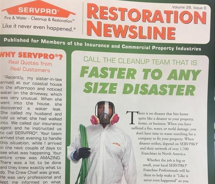 An article from a Servpro newsletter.